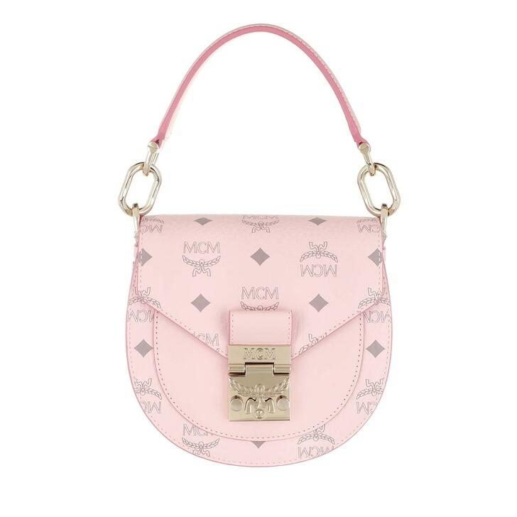 Handtasche, MCM, Mini Patricia Visetos Shoulder Bag Powder Pink
