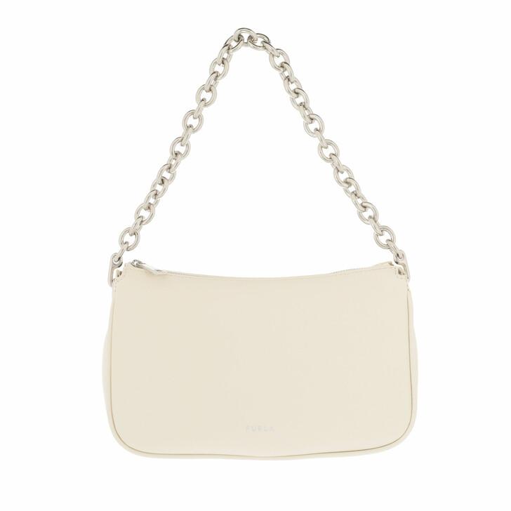 bags, Furla, Furla Moon S Shoulder Bag White Cotton