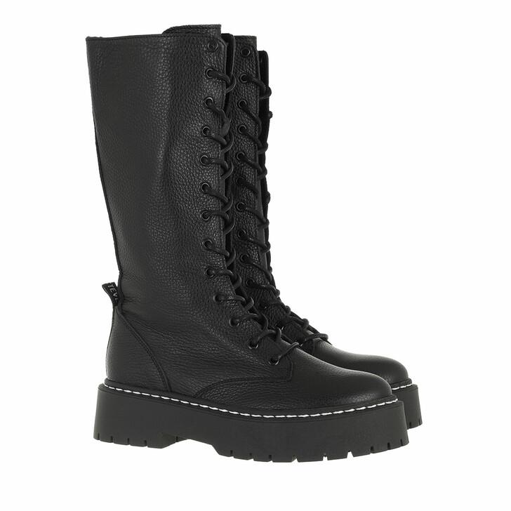 shoes, Steve Madden, Vroom Boot Black Leather