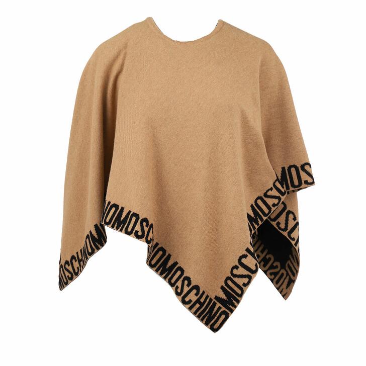 scarves, Moschino, Poncho  Beige