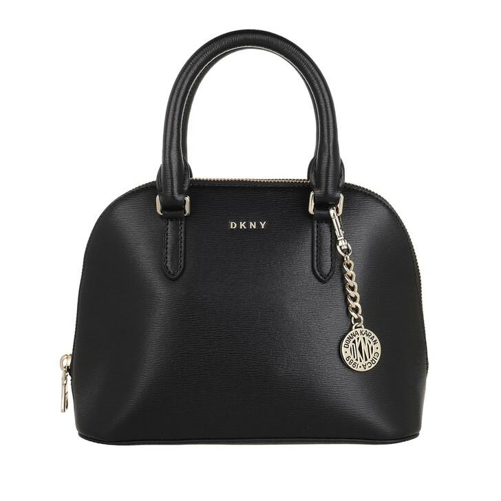 Handtasche, DKNY, Bryant Dome Satchel Blk/Gold