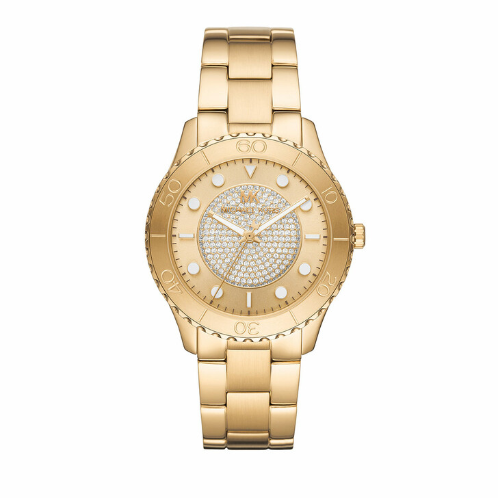 Uhr, Michael Kors, Runway Three-Hand Stainless Steel Watch Gold