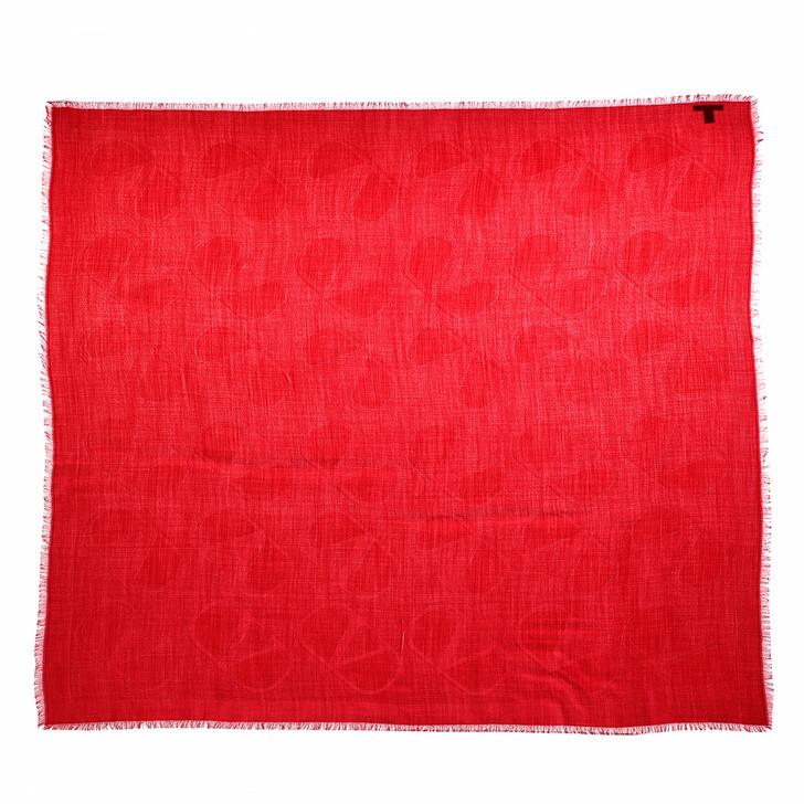 scarves, Valentino Garavani, V Logo Scarf Rosso