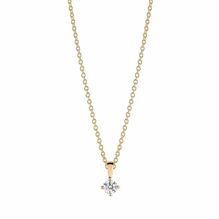 necklaces, Sif Jakobs Jewellery, Princess Piccolo Pendant And Chain 45 cm 18K Yellow Gold Plated