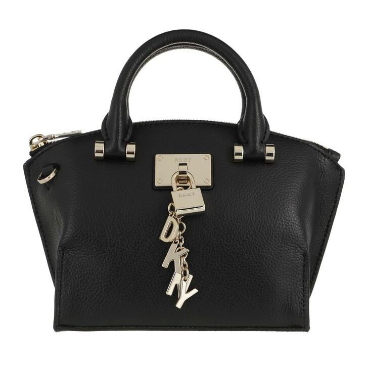 Handtasche, DKNY, Elissa Mini Satchel Blk/Gold