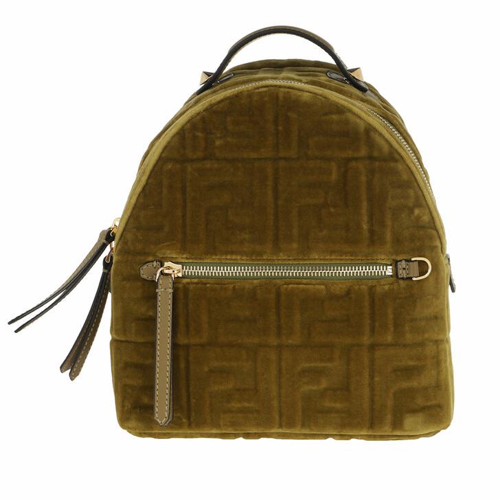 bags, Fendi, FF Monogramme Mini Backpack Green