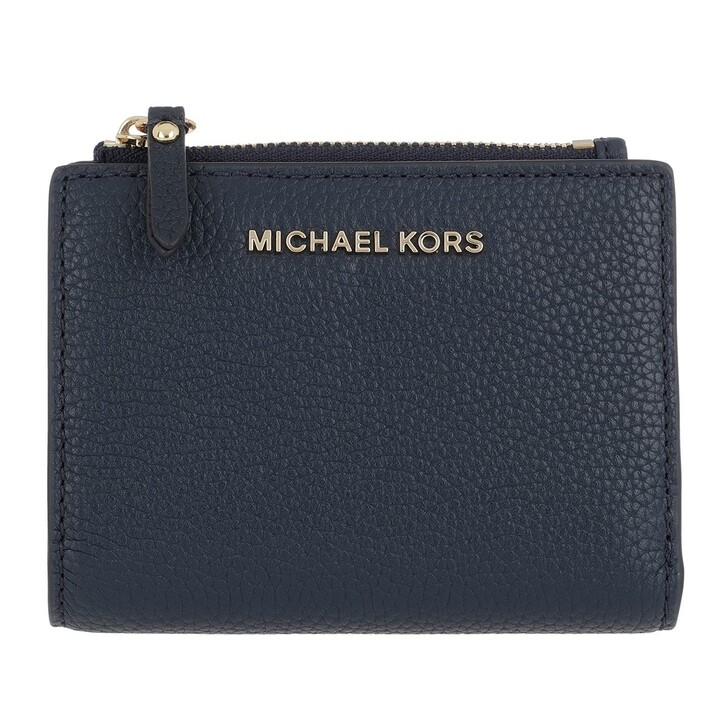 Geldbörse, MICHAEL Michael Kors, Medium Snap Billfold Wallet  Leather Navy
