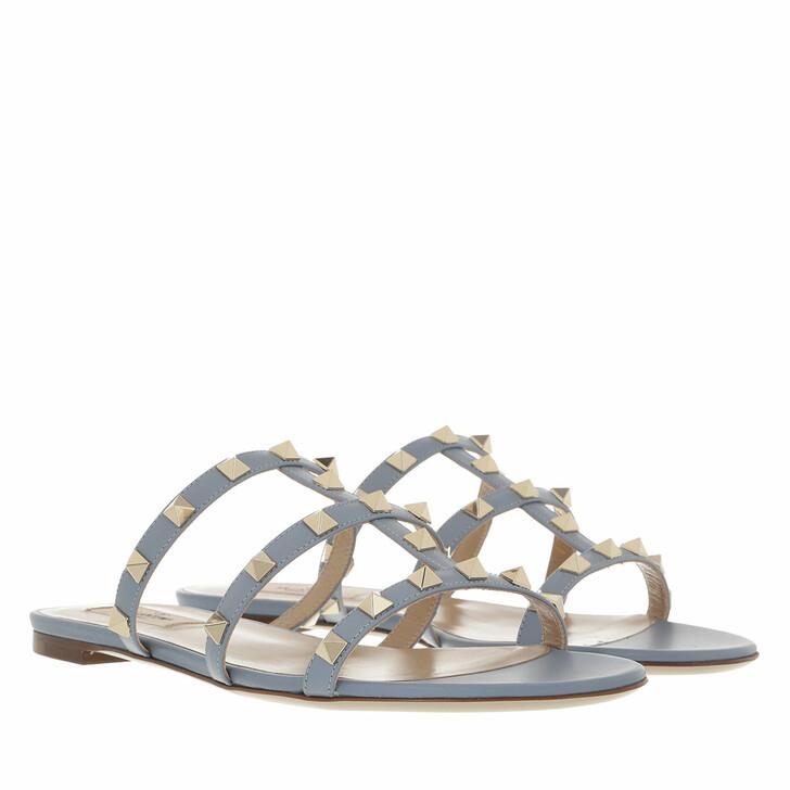 shoes, Valentino Garavani, Flat Sandals Light Blue
