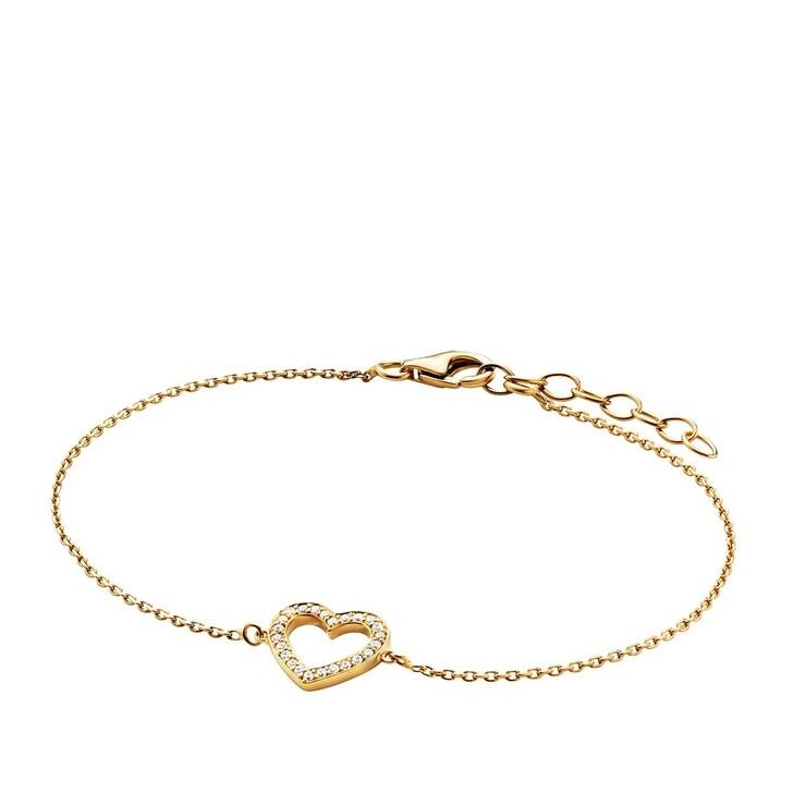 bracelets, BELORO, Bracelet Heart Zirconia  Gold-Plated