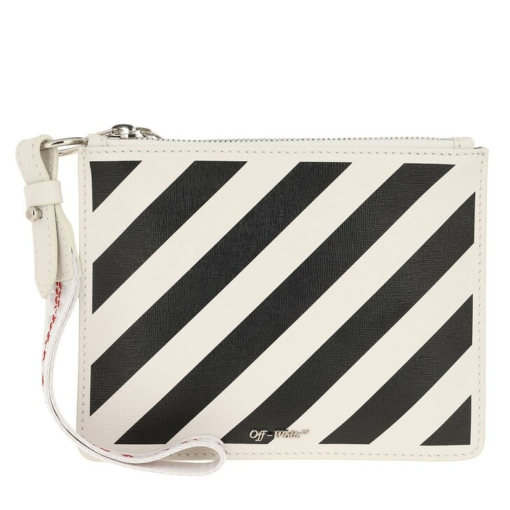 Handtasche, Off-White, Diag Pouch Off White/Black