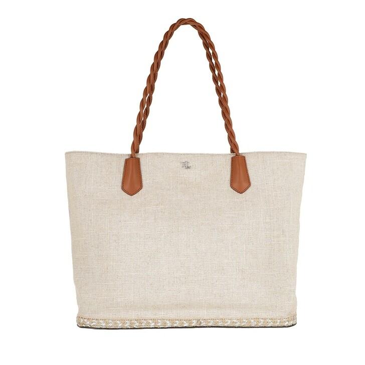 Handtasche, Lauren Ralph Lauren, Hutton 35 Tote Large Silver/Lauren Tan