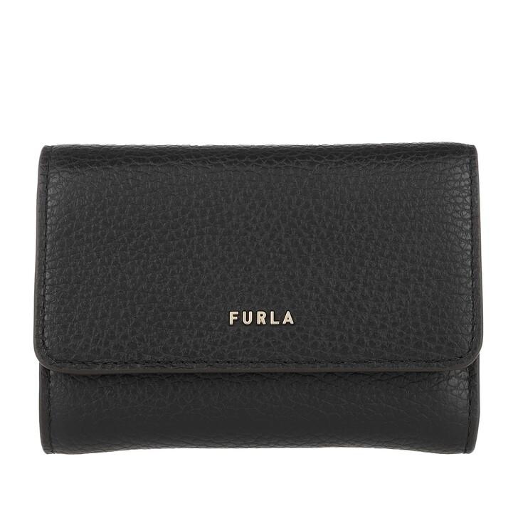 wallets, Furla, Furla Babylon S Compact Wallet Nero