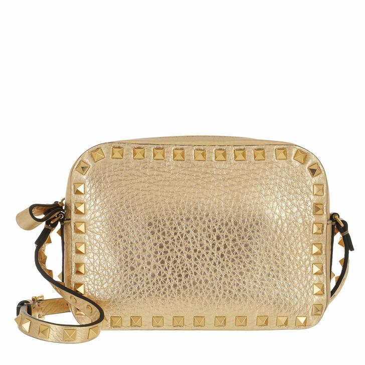 Handtasche, Valentino Garavani, Rockstud Camera Crossbody Bag Gold