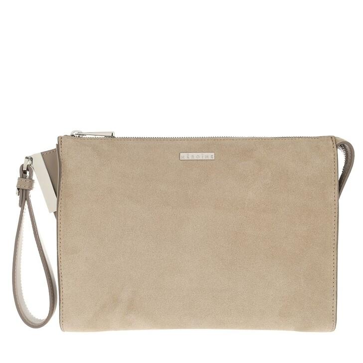 Smartphone/Tablet case (Case), Maison Hēroïne, Iva Tablet Bag Delicate Sand/Delicate Sand Nappa/Silver