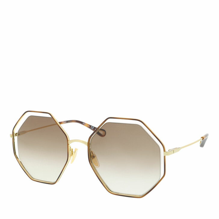 Sonnenbrille, Chloé, Sunglass WOMAN METAL HAVANA-GOLD-BROWN