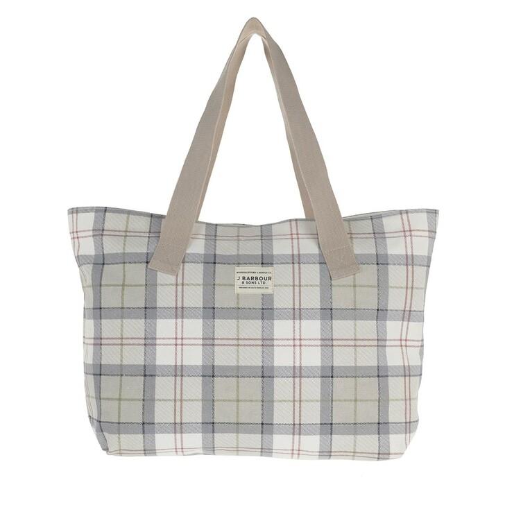 Handtasche, Barbour, Printed Shopper Mist Tartan