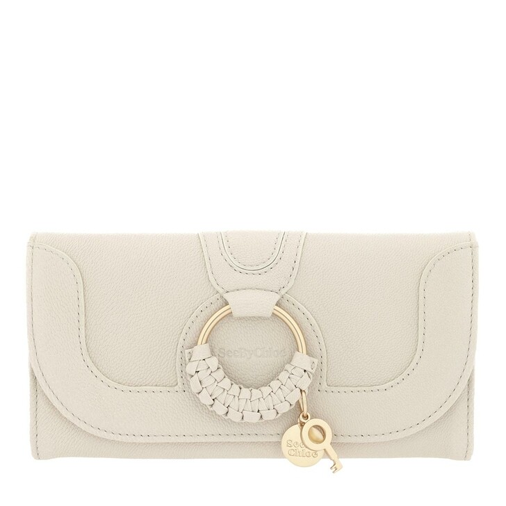 wallets, See By Chloé, Hana Wallet Large Cement Beige