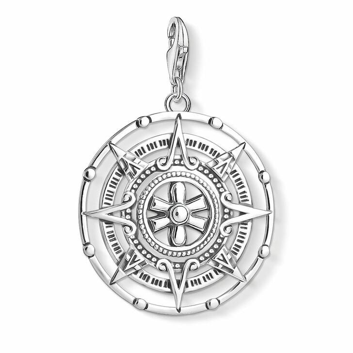 pendants, Thomas Sabo, Charm Pendant Maya Calendar Silver-Coloured
