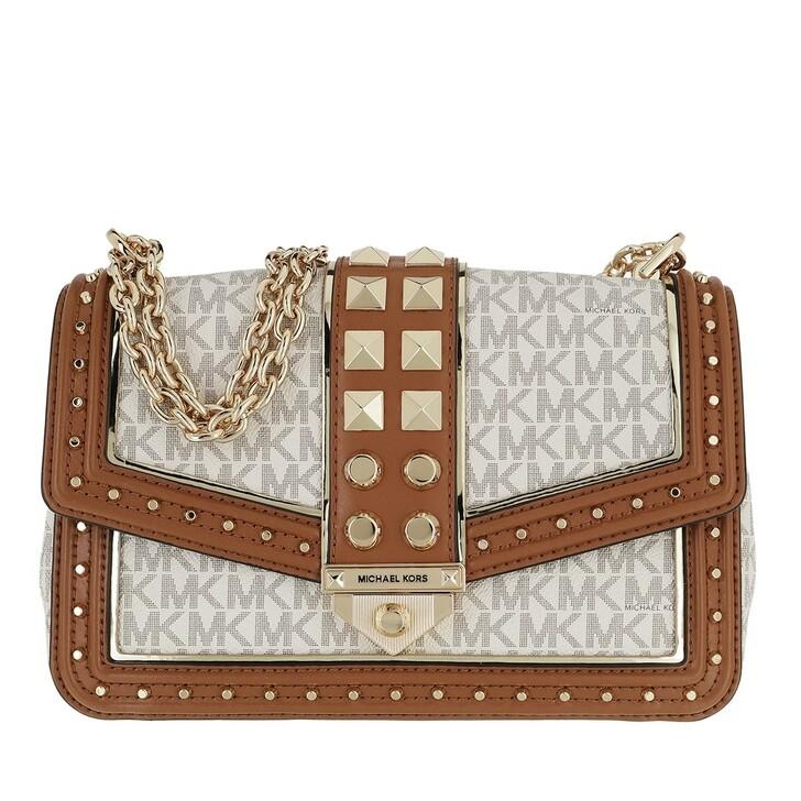 Handtasche, MICHAEL Michael Kors, Large Frameout Chain Bag Vanilla/Acorn