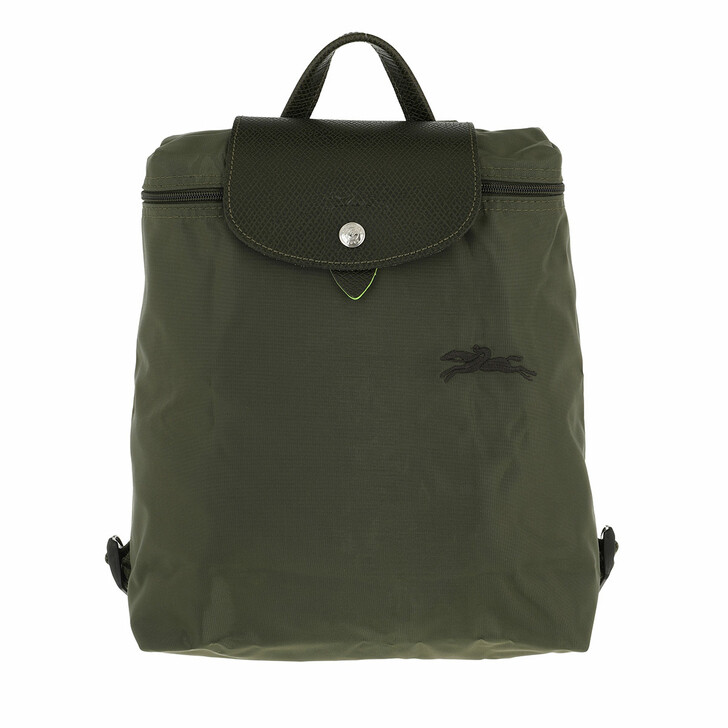 bags, Longchamp, Le Pliage Green Backpack Spruce