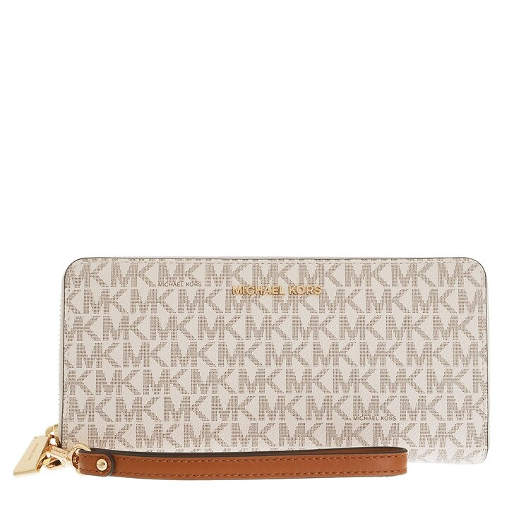 wallets, MICHAEL Michael Kors, Travel Continental Vanilla
