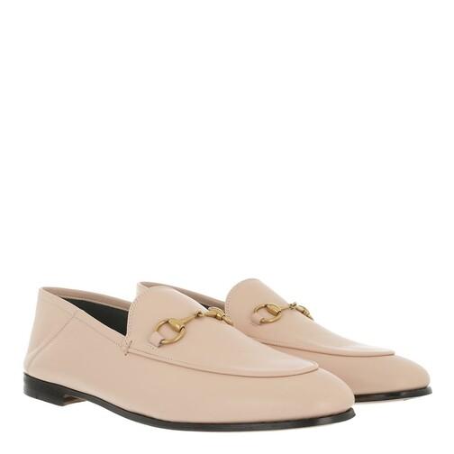 gucci -  Loafers & Ballerinas - Brixton Horsebit Loafer Leather - in rosa - für Damen