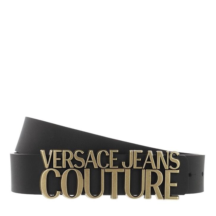 Gürtel, Versace Jeans Couture, Logo Buckle Belt Leather Black