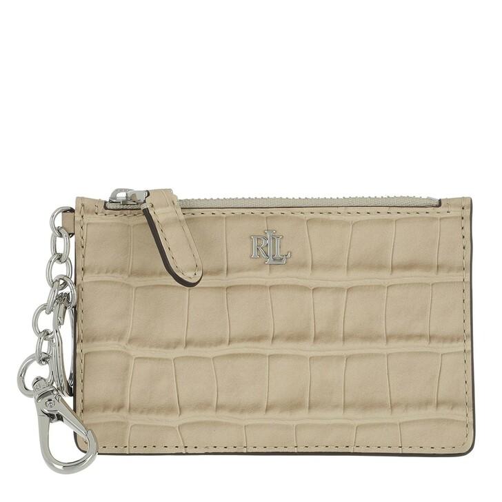 wallets, Lauren Ralph Lauren, Zip Card Cas Card Case Medium Dune Tan
