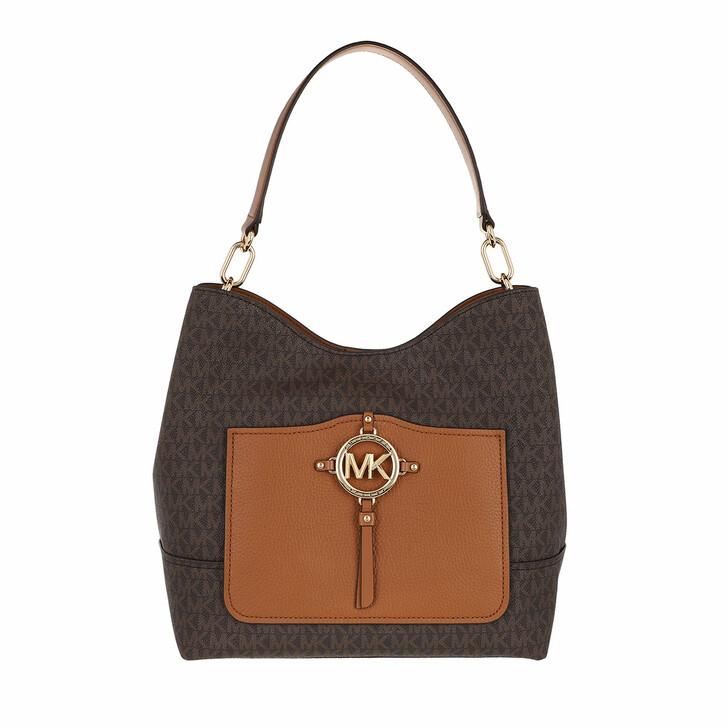 bags, MICHAEL Michael Kors, Amy Large Hobo Shoulder Brown/Acorn