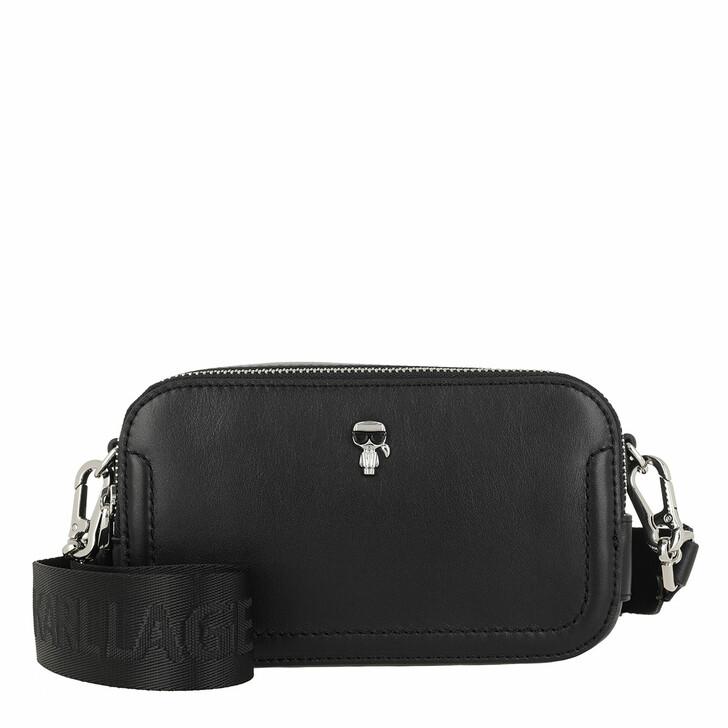 Handtasche, Karl Lagerfeld, K/Ikonik 3d Pin Camera Bag Black