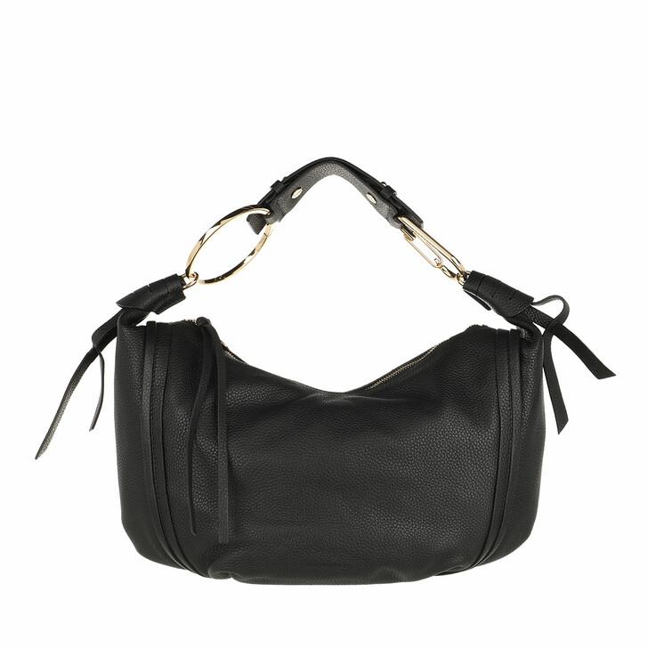 bags, Borbonese, Medium Orbit Satchel Bag Black