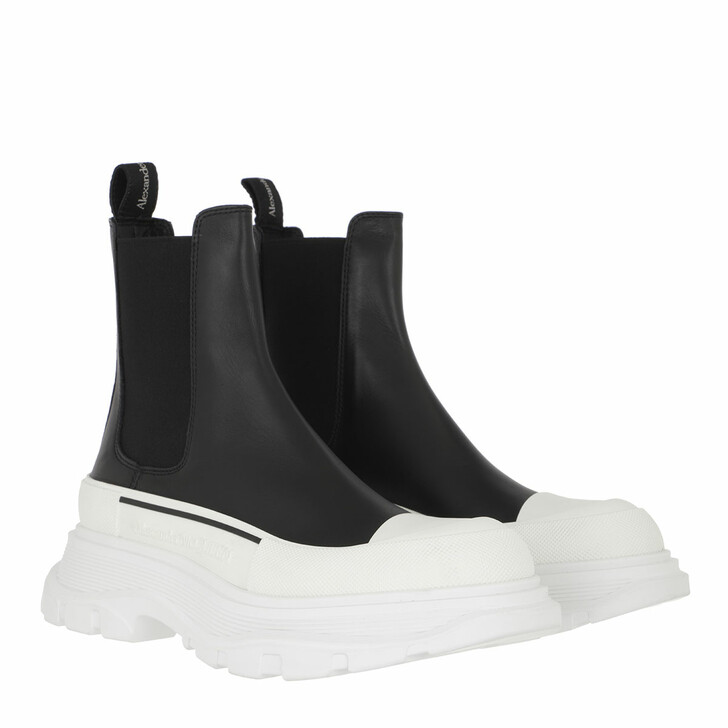 shoes, Alexander McQueen, Chunky Sole Boots Black/White