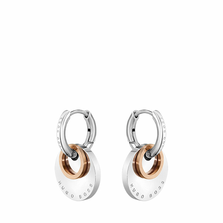 earrings, Boss, Earrings Bicolor