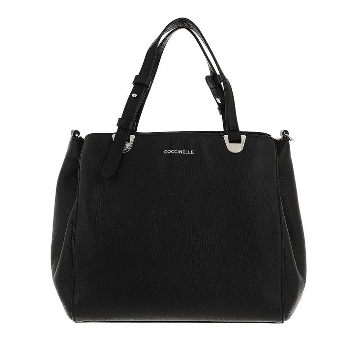 bags, Coccinelle, Lea Handbag Grained Leather  Noir