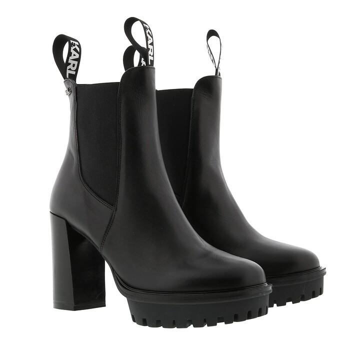 Schuh, Karl Lagerfeld, Voyage IV Ankle Gore Boot Black Lthr