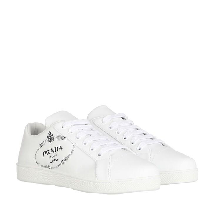 Schuh, Prada, Prada Logo Sneaker White/Black