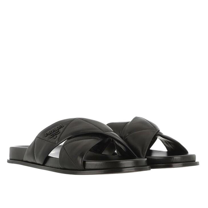 Schuh, Prada, Flat Slipper Leather Black