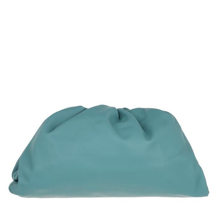 Handtasche, Bottega Veneta, Pouch Bag Leather Linoleum/Silver