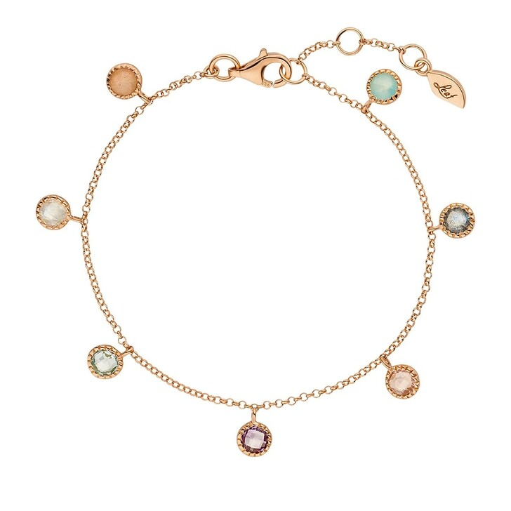 bracelets, Leaf, Bracelet Sweet Drops Silver Rosé-Plated