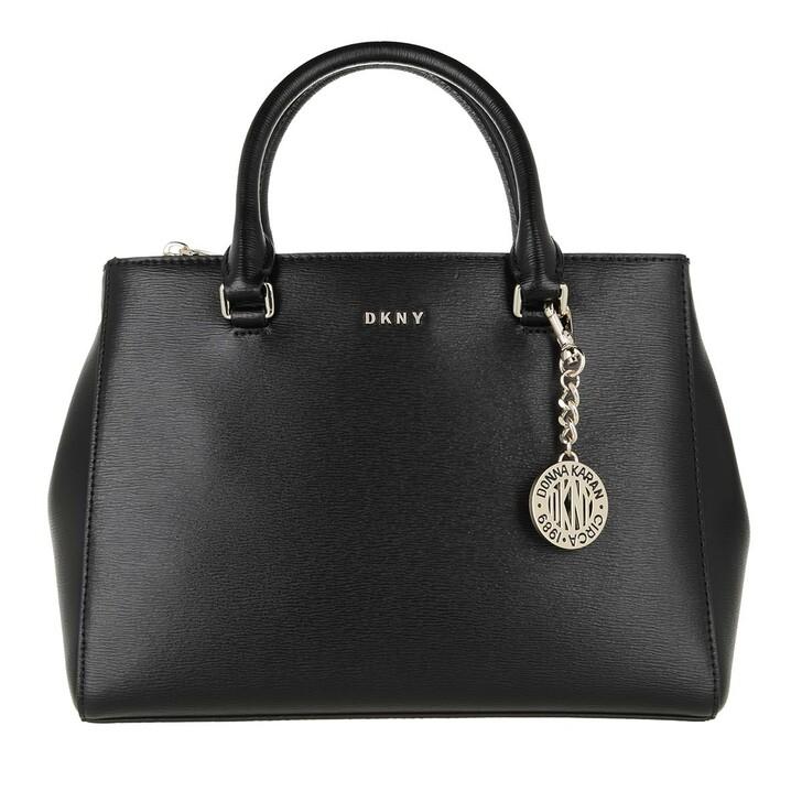 Handtasche, DKNY, Bryant Medium Satchel Black Gold