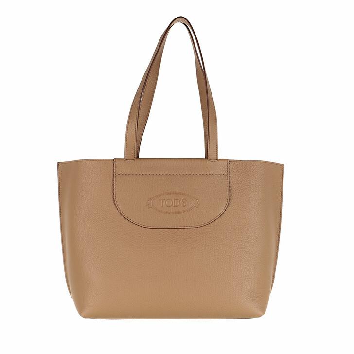 Handtasche, Tod's, Medium Shopping Bag Leather Beige