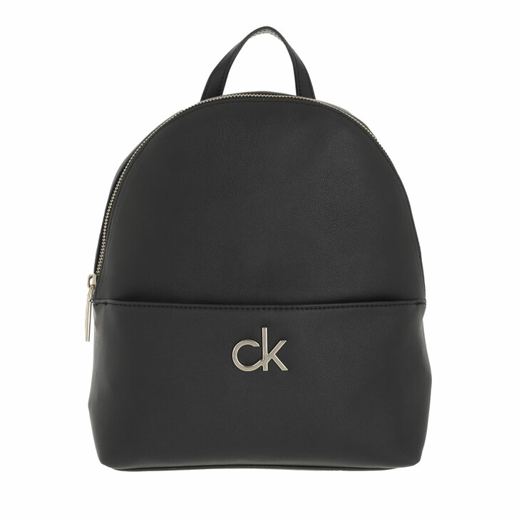 bags, Calvin Klein, Re-Lo Round Backpack with Poet Small Black
