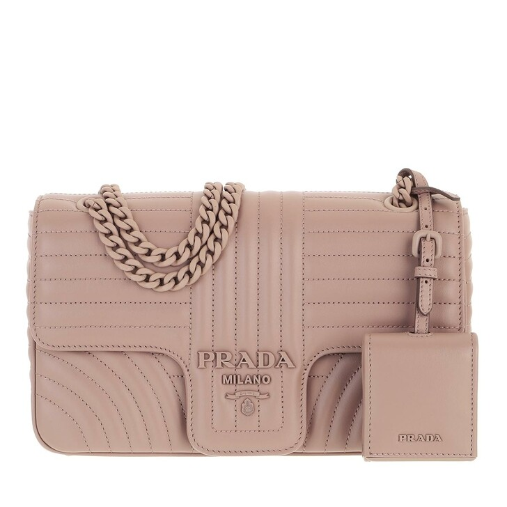 bags, Prada, Diagramme Crossbody Bag Powder Beige