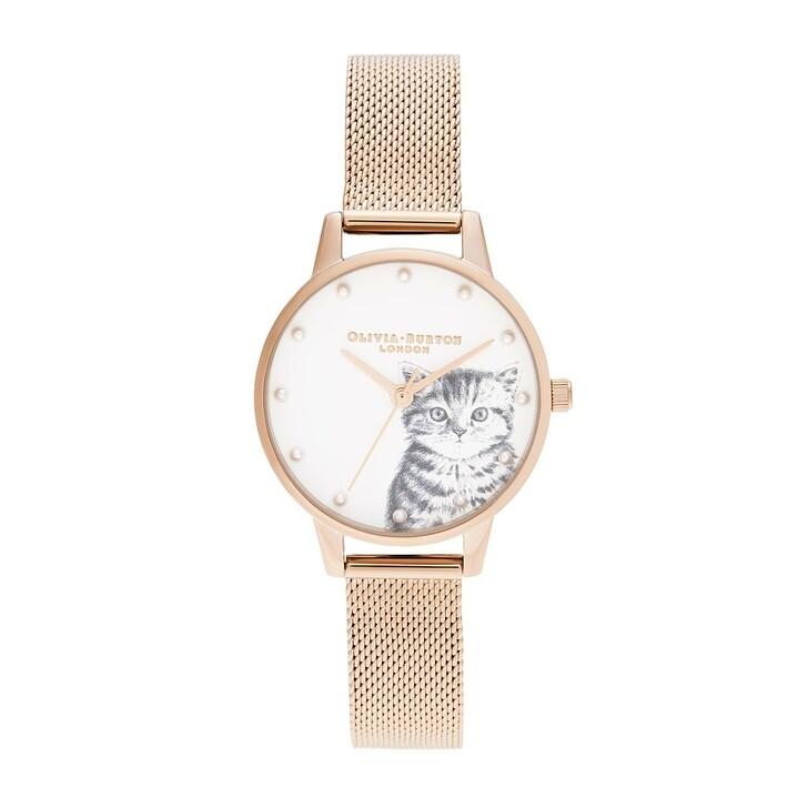 Uhr, Olivia Burton, Women Quartz Watch Illustrated Animals Rosegold