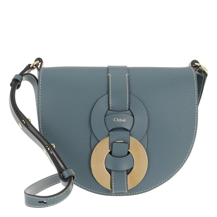 Handtasche, Chloé, Small Darryl Crossbody Bag Calfskin Mirage Blue