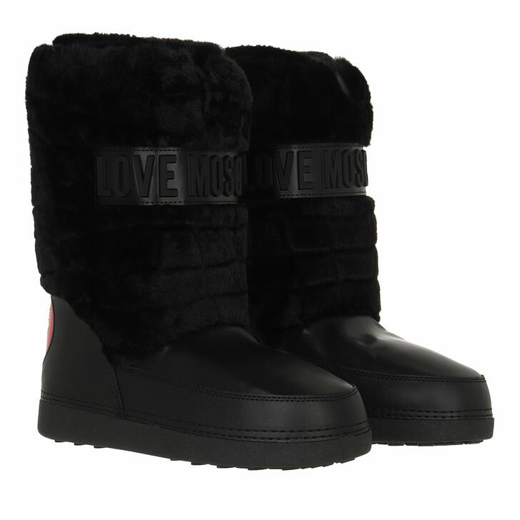 shoes, Love Moschino, St Ttod Skiboot20 Prin Soft Pl  Nero