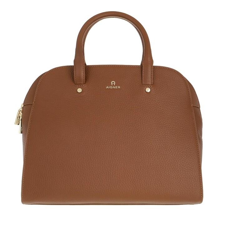 bags, AIGNER, Ivy Handbag Dark Toffee Brown