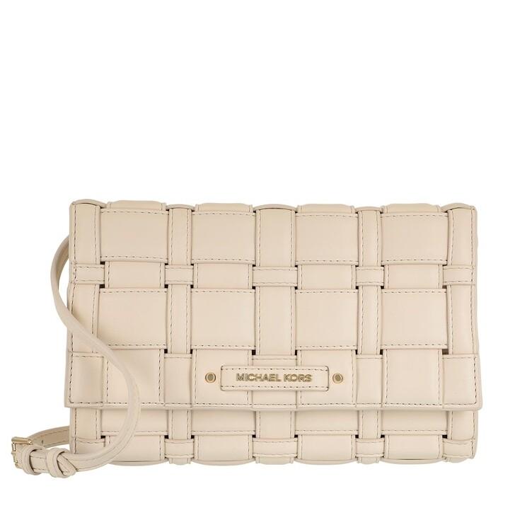 Handtasche, MICHAEL Michael Kors, Large Clutch Xbody Lt Cream