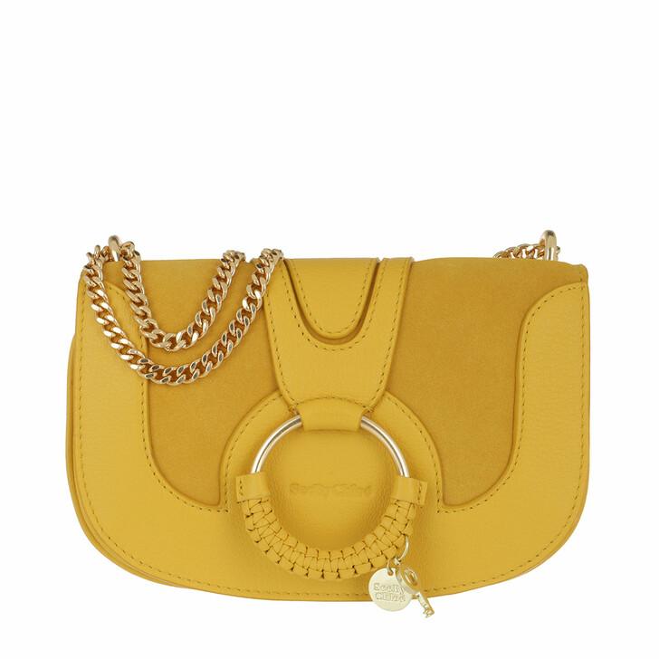 bags, See By Chloé, Hana Crossbody Bag Leather Golden Green