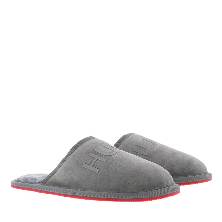 Schuh, Hugo, Cozy Slipper Open Grey